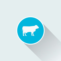 flat cow icon