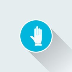 flat hand icon