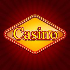Casino banner. Casino online, slot machine games banner. Vector stock.