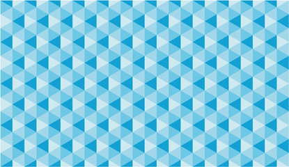 Blue Cube Seamless Vector Pattern or Seamless Vector Background