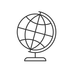 Globe on a stand linear icon