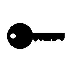 Schwarzes einfaches Symbol -  Schlüssel - Passwort