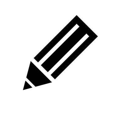 Schwarzes einfaches Symbol -  Stift - Bearbeiten - Schreiben