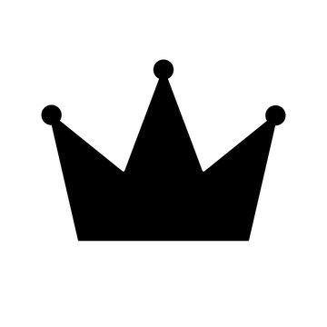 Schwarzes einfaches Symbol - Krone - Exklusiv