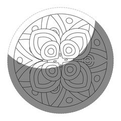 floral mandala icon