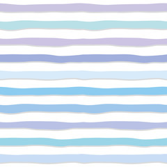 Cute seamless pattern with hand drawn strippes in pastel blue. For print and web.