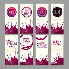 Cards for promotion of wine events