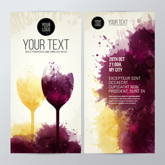 wine glasses with background stains