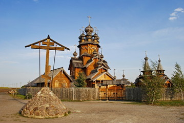 The Orthodox Church of the wooden frame