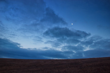 Minimal Evening Cloudy Landscape