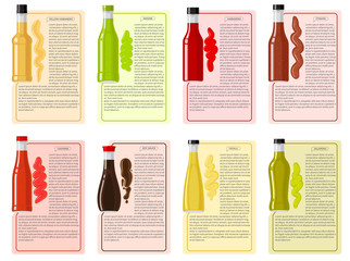 Sauce Bottle Collection with Information Text