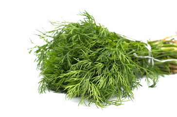 Dill bunch isolated on white background