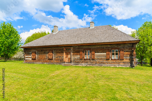 Old traditional wooden house in tokarnia village on sunny spring day poland imagens e fotos - Traditional polish houses wood mastership ...