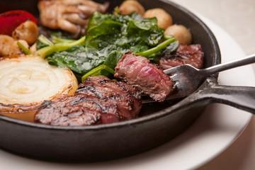 beef sirloin pan steak