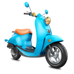 Classic retro scooter