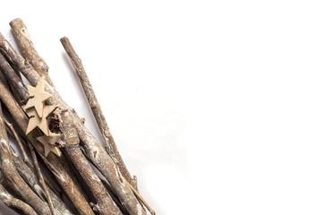 stick, frame on a white background