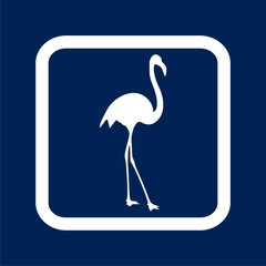 Flamingo Icon - Illustration