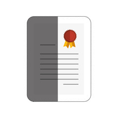 diploma certificate isolated icon