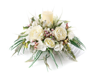 Festive flower arrangement to decorate
