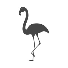 Flamingo emblem flat icon - Illustration