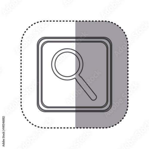Figure emblem magnifying glass icon vector illustration design f - Figure libre architecture ...