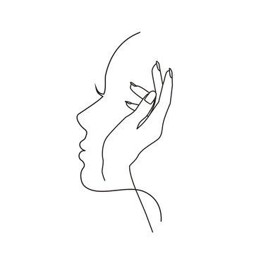профиль и рука