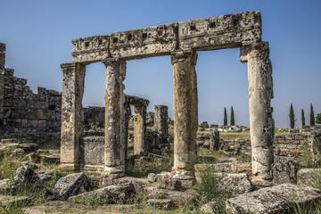 Ancient graves - Pamukale Turkey