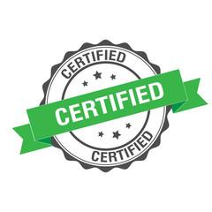 Certified rubber stamp illustration