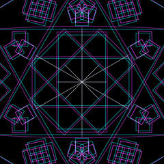 vector abstract sacred geometry decoration.