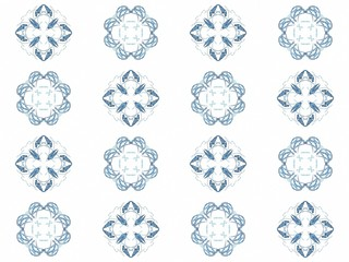 Seamless texture with 3D rendering abstract fractal blue pattern