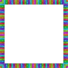 Wood Planks - Color Shift Border