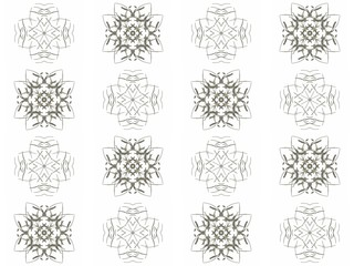 Seamless texture with 3D rendering abstract fractal gray pattern
