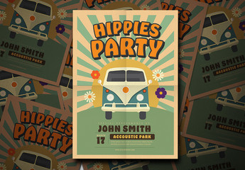 1960s Theme Party Flyer Layout