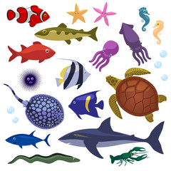 Underwater Inhabitants sea life for kids