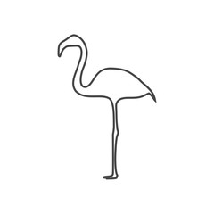 Flamingo line Icon - Illustration