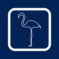Flamingo line Icon - Illustration
