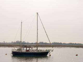 Moored Blue Boat