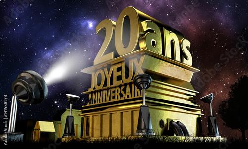 20 ans joyeux anniversaire photo libre de droits sur la banque d 39 images image. Black Bedroom Furniture Sets. Home Design Ideas