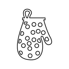 kitchen glove utensil isolated icon vector illustration design