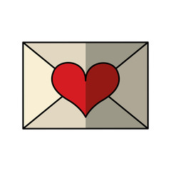 letter with heart icon vector illustration design