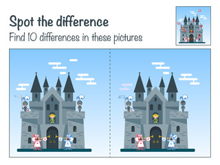 "Game the mystery of the ""Find ten differences in the picture Medieval castle"""