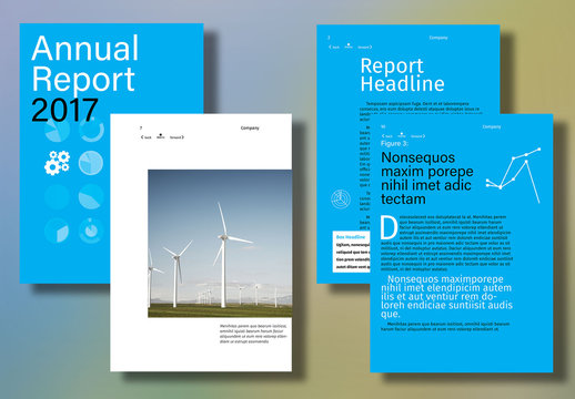 Interactive Annual Report Layout