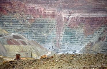 Tagebau in einer Kupfermine in New Mexico, USA