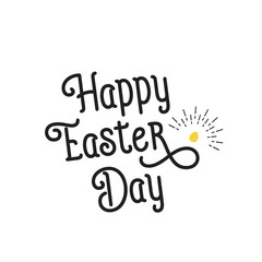 Happy Easter Day Lettering, Egg and Beams