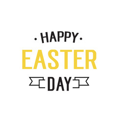 Happy Easter Day Typed Inscription