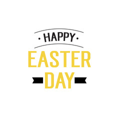 Happy Easter Day Typed Lettering
