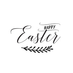 Happy Easter Lettering and Twig
