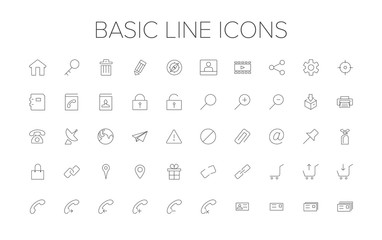 Basic Line Icon Set