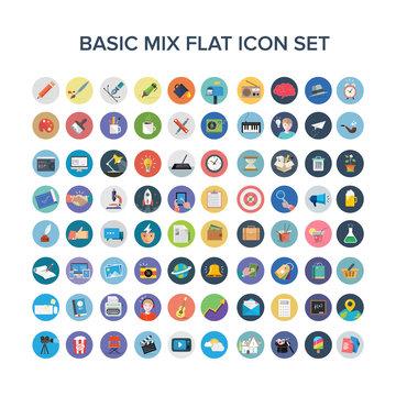 Universal Flat Icons Set