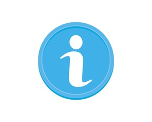Letter i for information icon inside a round
